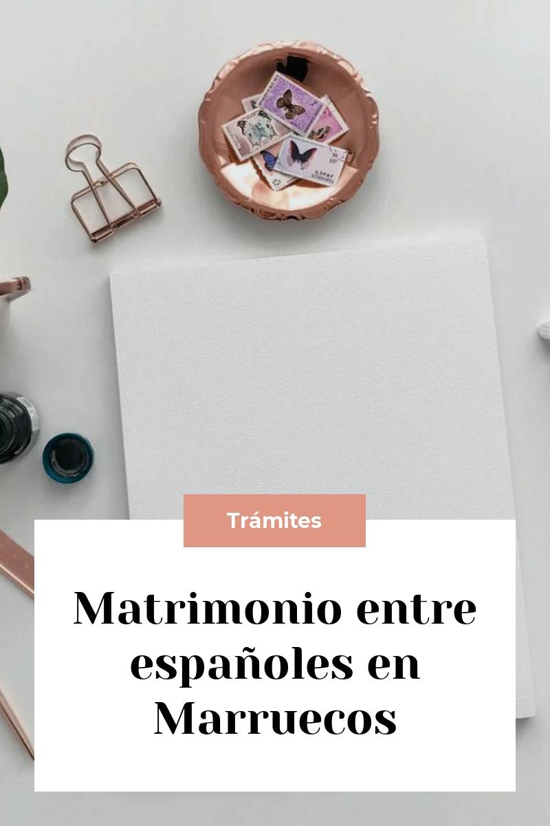 Matrimonio entre españoles en Marruecos