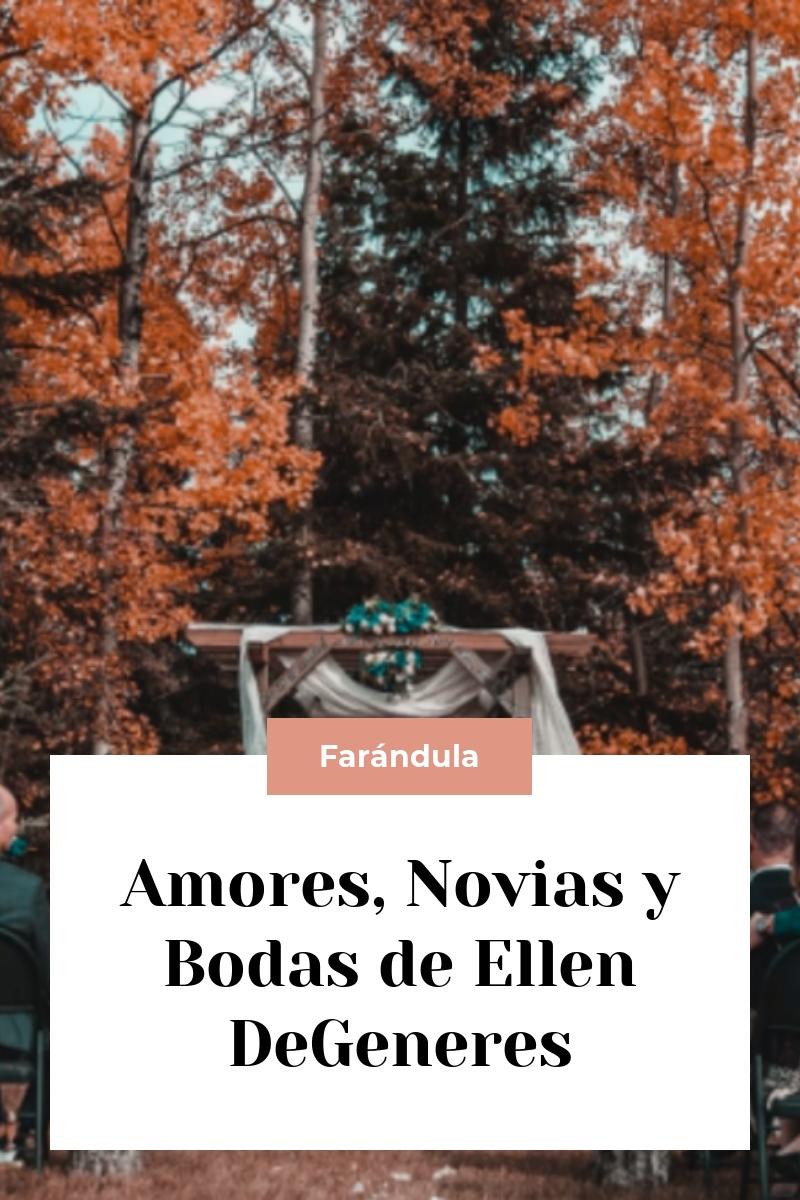 Amores, Novias y Bodas de Ellen DeGeneres