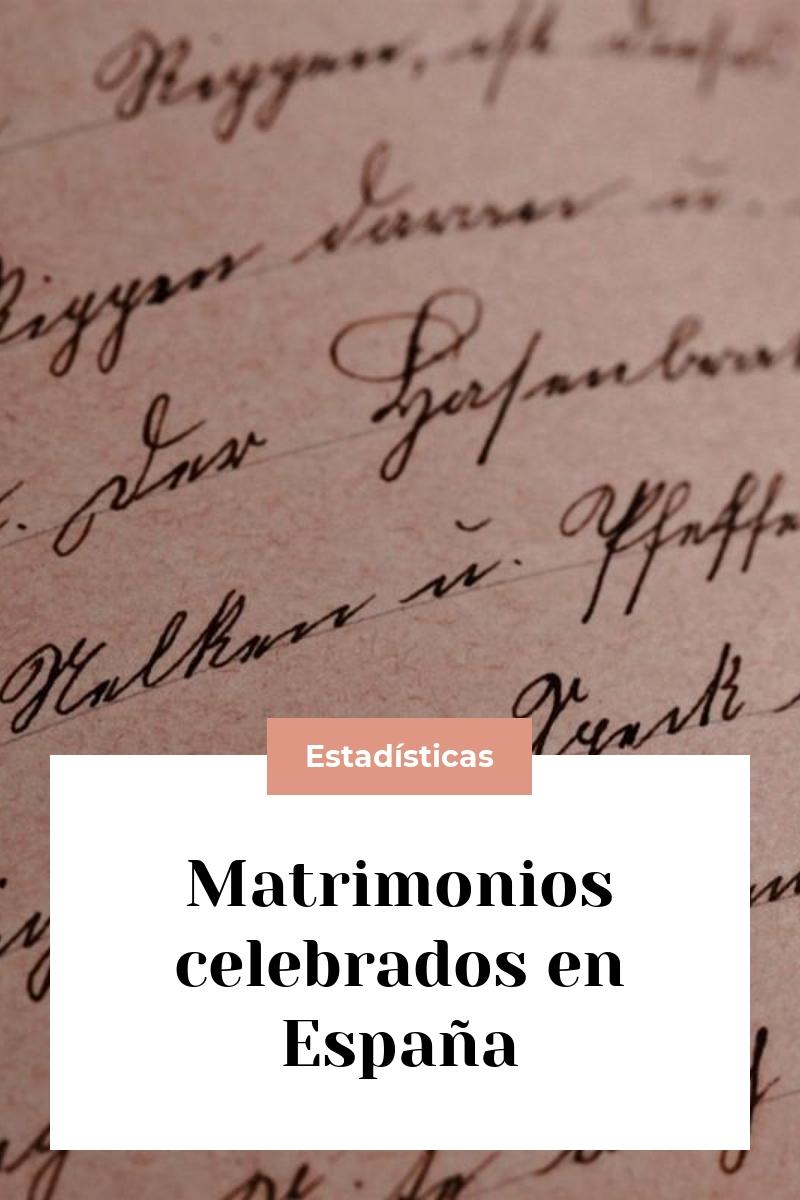 Matrimonios celebrados en España