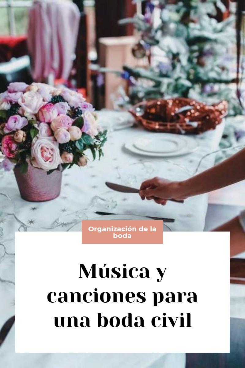 Música y canciones para una boda civil
