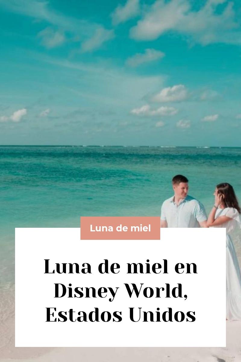 Luna de miel en Disney World, Estados Unidos