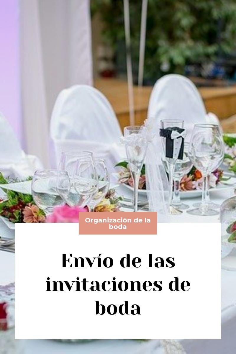 Envío de las invitaciones de boda