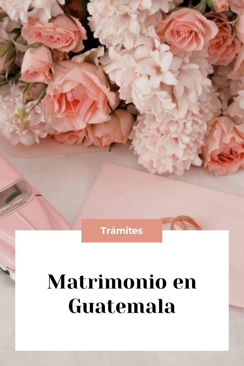 Matrimonio en Guatemala