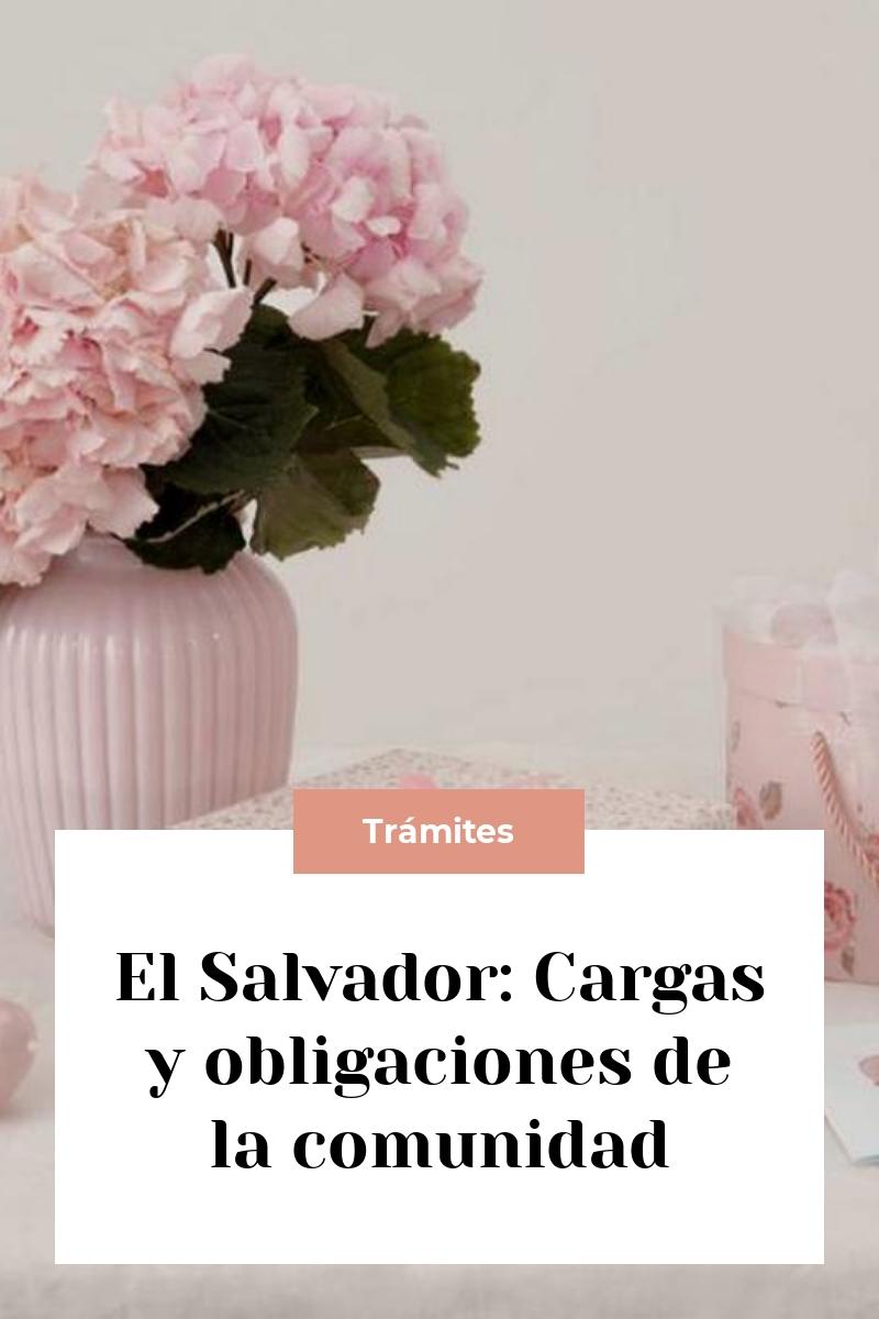 El Salvador: Cargas y obligaciones de la comunidad