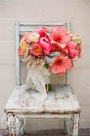 bouquet de peonias en tonos rosa