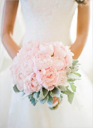 ramo de peonias en rosa palo