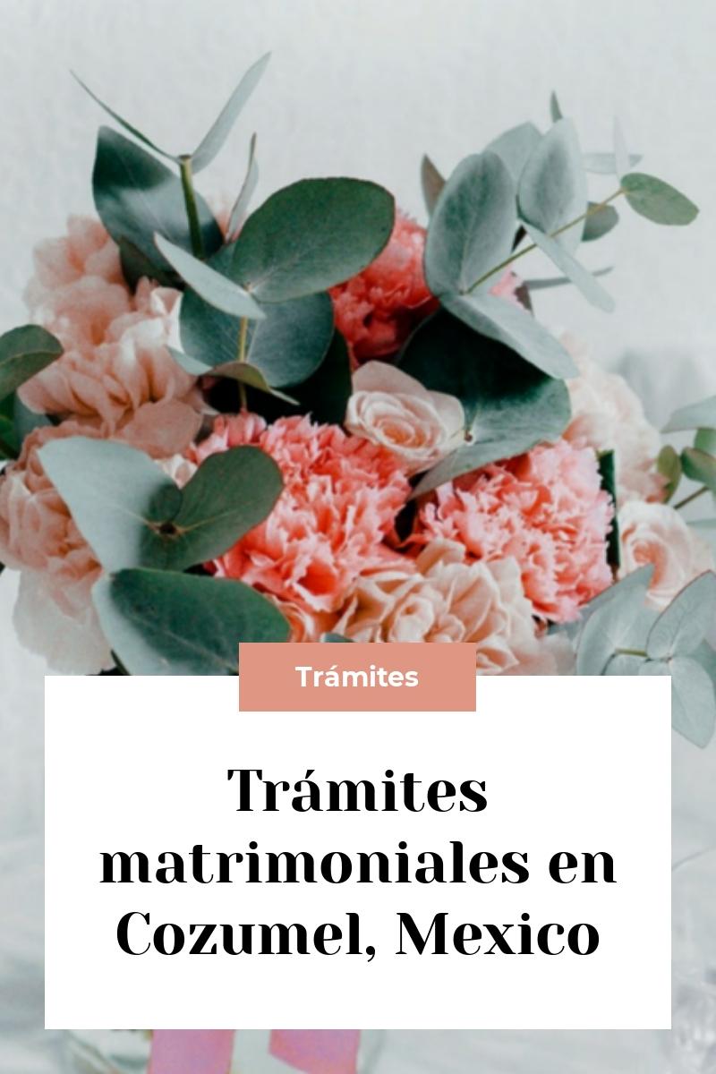 Trámites matrimoniales en Cozumel, Mexico