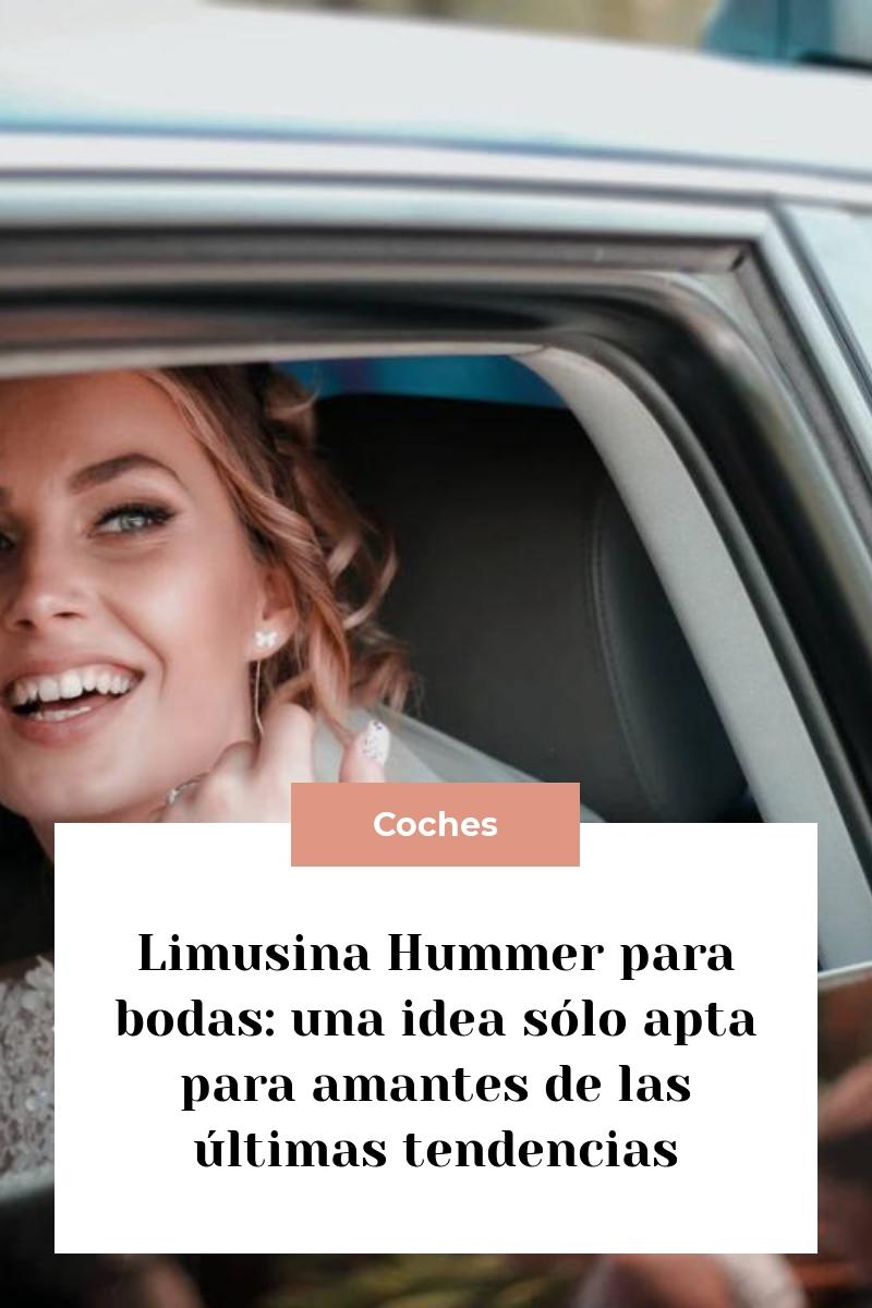 Limusina Hummer para bodas: una idea sólo apta para amantes de las últimas tendencias