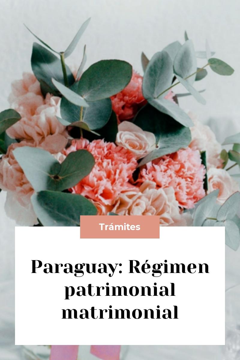 Paraguay: Régimen patrimonial matrimonial