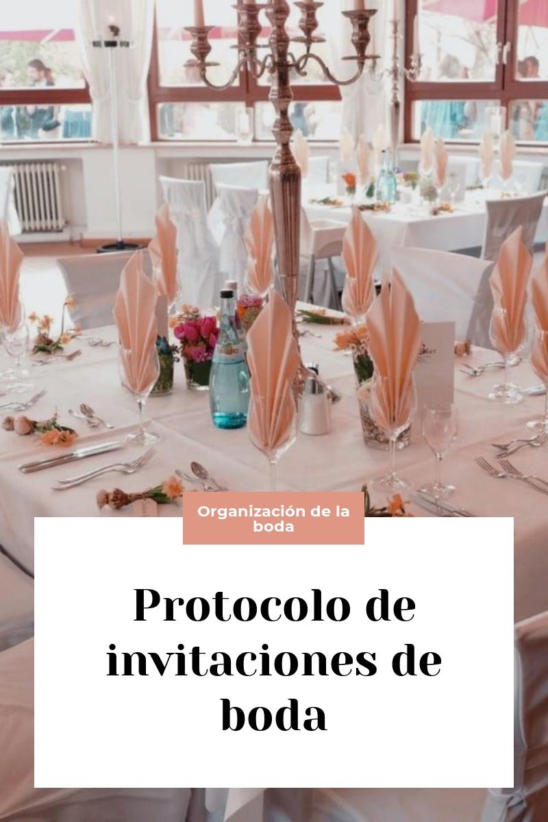 Protocolo de invitaciones de boda