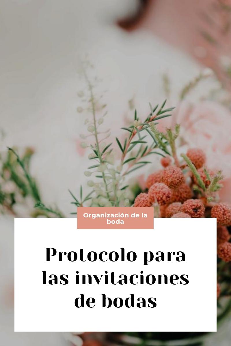 Protocolo para las invitaciones de bodas