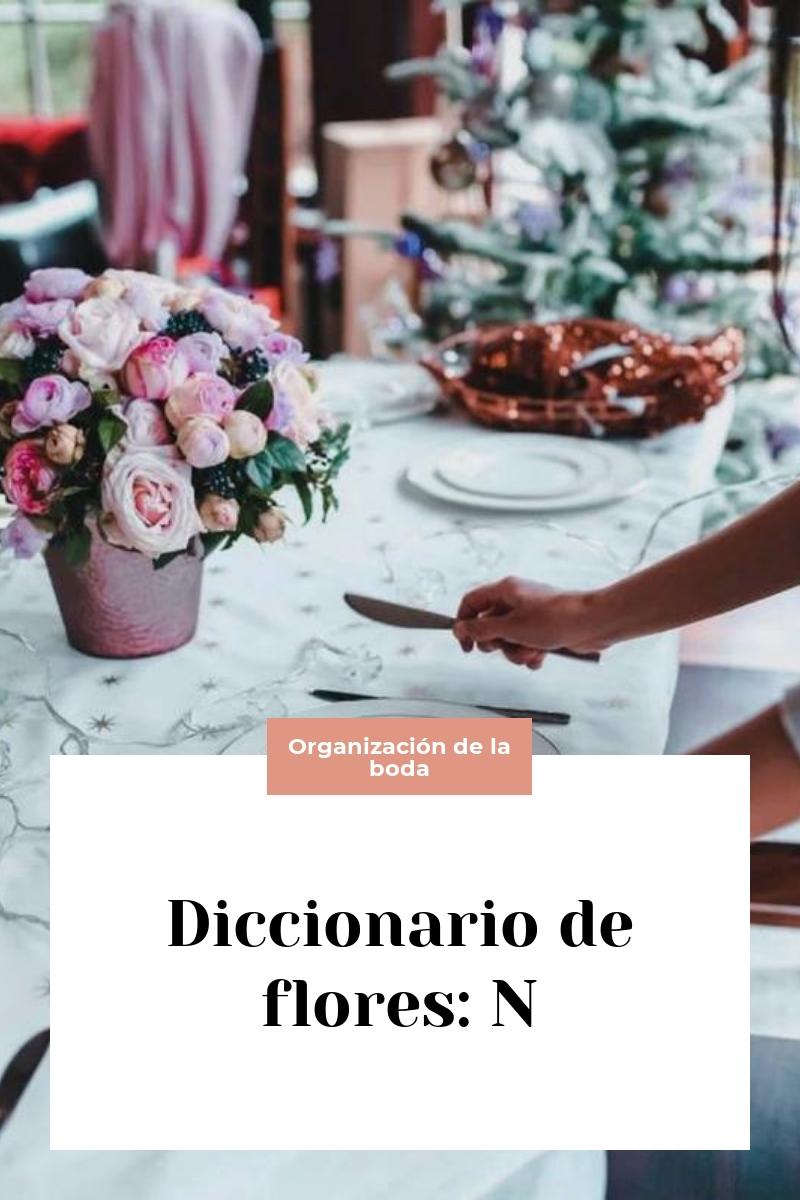 Diccionario de flores: N